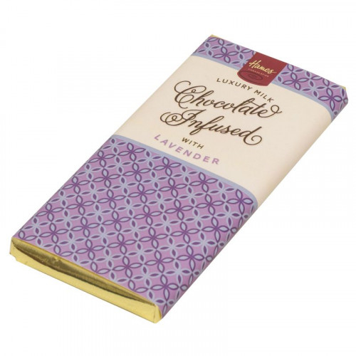 Infusion Chocolate Bar - Lavender Infused Milk Chocolate Bar 80g x Outer of 12