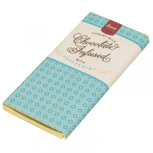Infusion Chocolate Bar - Peppermint Infused Milk Chocolate Bar 80g x Outer of 12
