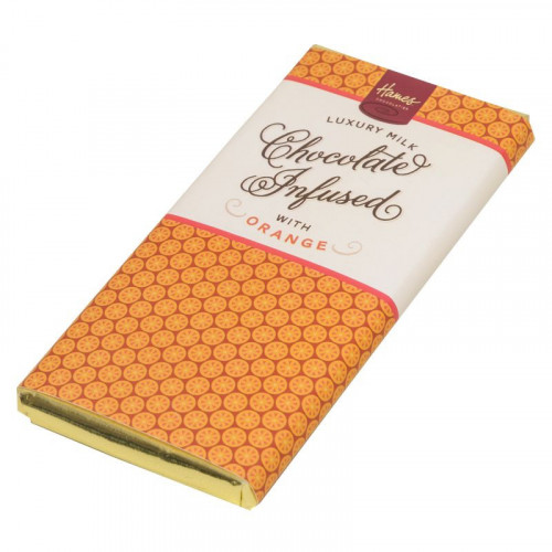 Infusion Chocolate Bar - Orange Infused Milk Chocolate Bar 80g x Outer of 12