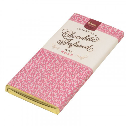 Infusion Chocolate Bar - Rose Infused Milk Chocolate Bar 80g x Outer of 12