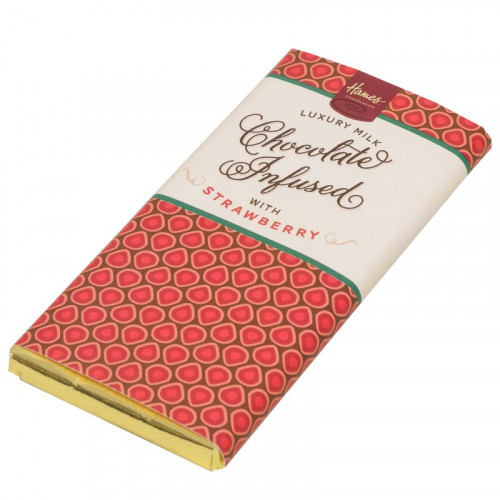 Infusion Chocolate Bar - Strawberry Infused Milk Chocolate Bar 80g x Outer of 12