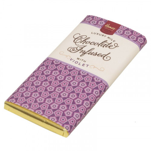 Infusion Chocolate Bar - Violet Infused Milk Chocolate Bar 80g x Outer of 12