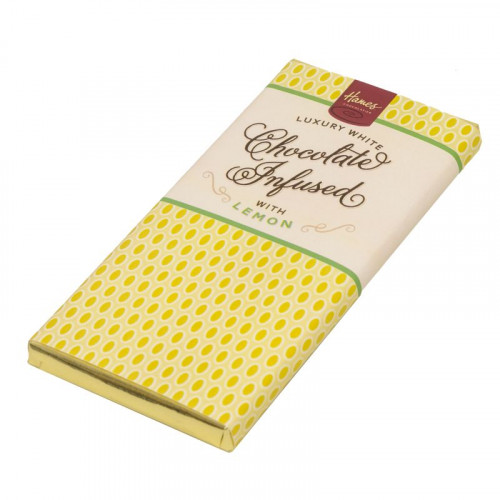Infusion Chocolate Bar - Lemon Infused White Chocolate Bar 80g x Outer of 12