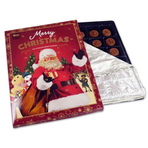 Victorian Christmas - Milk Chocolate Santa Advent Calendar