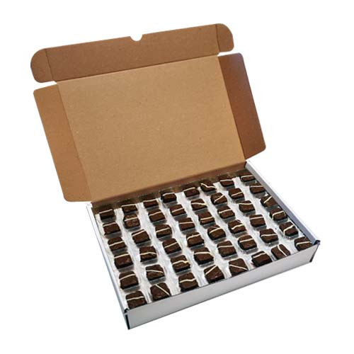 Loose Chocolates - Milk Chocolate Square with a Latte Soft Coffee Center (96 Chocolates Per Box)