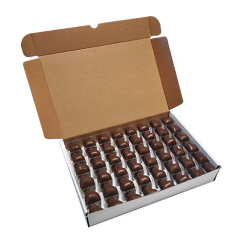 Loose Chocolates - Milk Chocolate Cocoa Butter Heart (96 Chocolates Per Box)