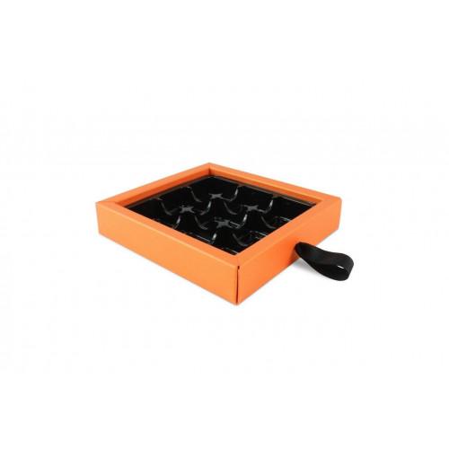 ElegantPremium Quality 9 Choc Drawer Buffer Box in Orange Pearl Shimmer 130mm x 29mm x 139mm