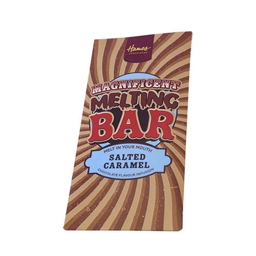Magnificent Milk Melting Bar Infused with Salted Caramel 80g x Outer of 12