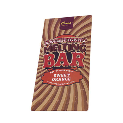 Magnificent Milk Melting Bar Infused with Sweet Orange 80g x Outer of 12