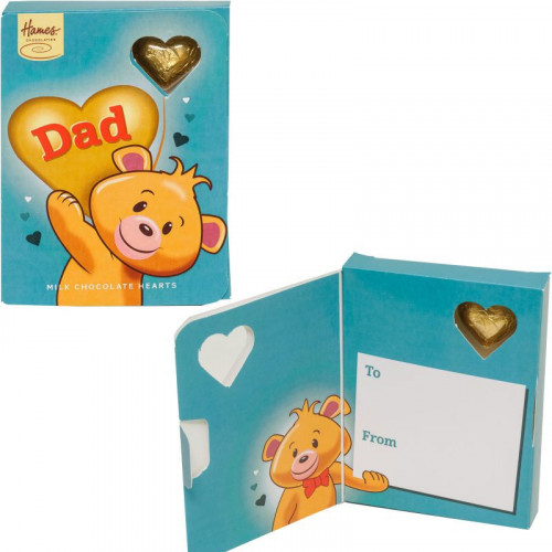 Sentiment Chocolate Heart Card - Dad  x Outer of 14