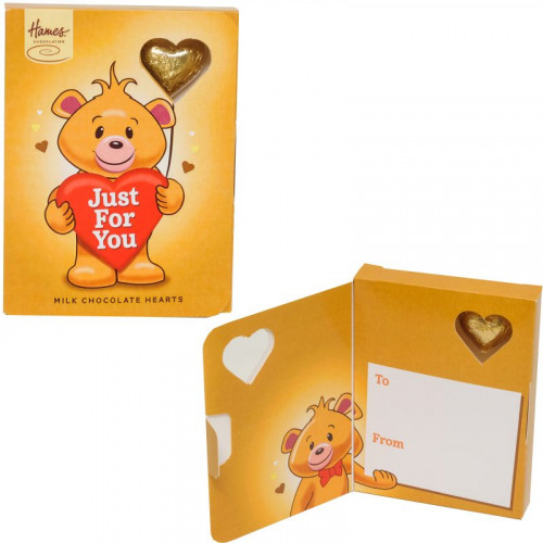 Sentiment Chocolate Heart Card - Just For You  x Outer of 14