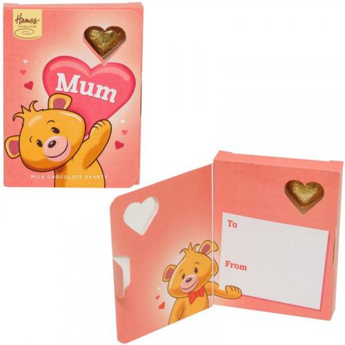 Sentiment Chocolate Heart Card - Mum  x Outer of 14