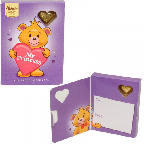 Sentiment Chocolate Heart Card - My Princess  x Outer of 14