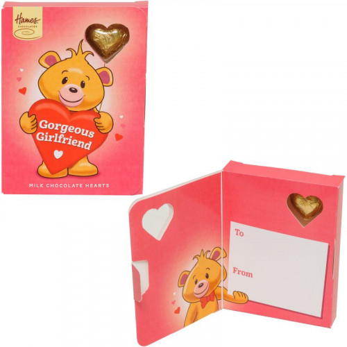 Sentiment Chocolate Heart Card - Gorgeous Girlfriend  x Outer of 14