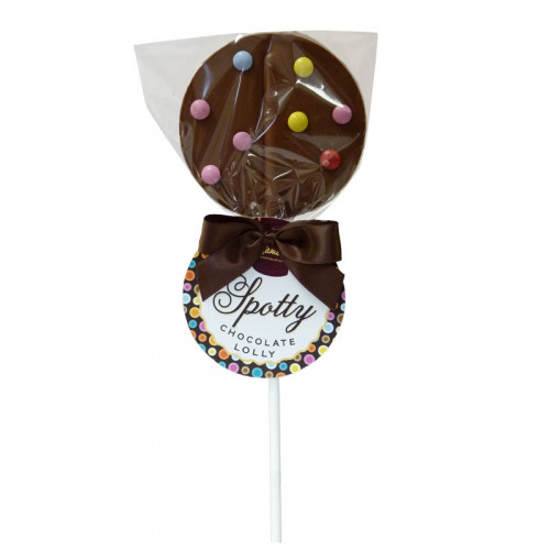 Hames - Luxury Spotty Lollies Milk Chocolate Lollipops Decorated with Mini Candy Beans