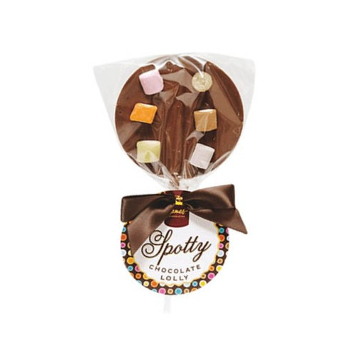 Hames - Luxury Spotty Lollies Milk Chocolate Lollipops Decorated with Dolly Mix  x Outer of 18