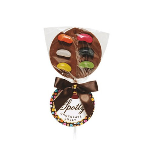 Hames - Luxury Spotty Lollies Milk Chocolate Lollipops Decorated with Jelly Beans