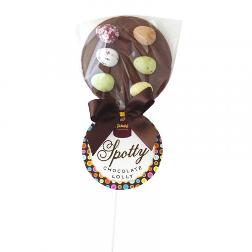 Hames - Luxury Spotty Lollies Milk Chocolate Lollipops Decorated with Speckled Egg
