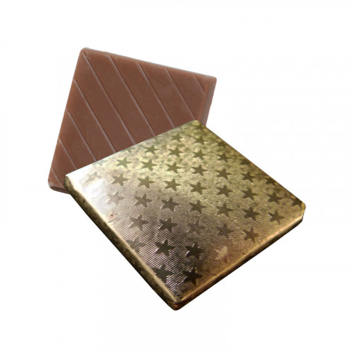 Milk Chocolate Neapolitan Finished in Gold Foil