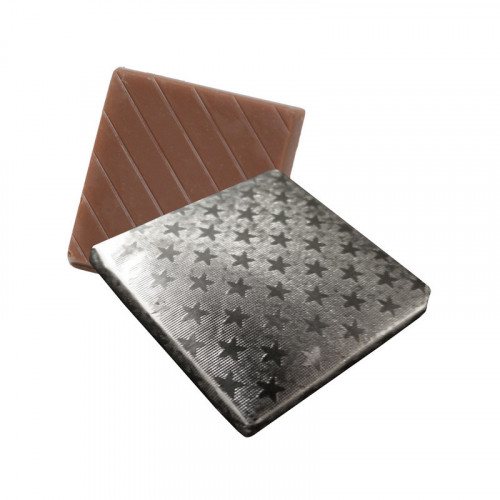 Milk Chocolate Neapolitan Finished in Silver Foil