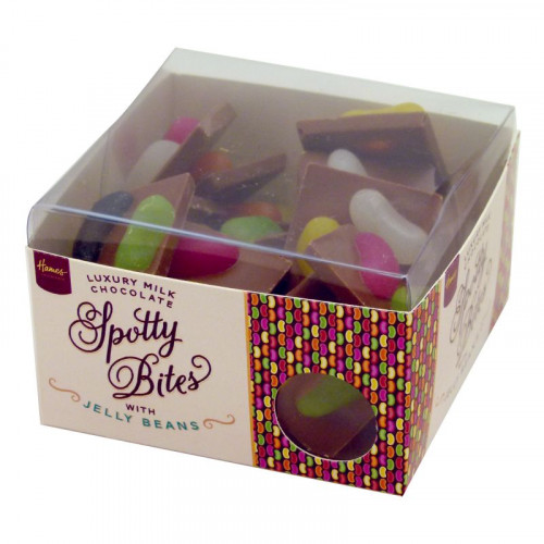 Hames - Spotty Bites Luxury Milk Chocolate Decorated with Jelly Beans 195g x Outer of 12