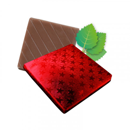 Mint Flavoured Milk Chocolate Neapolitan Finished in Red Foil