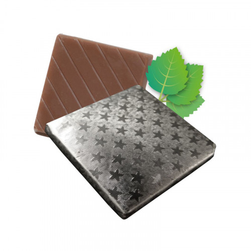 Mint Flavoured Milk Chocolate Neapolitan Finished in Silver Foil