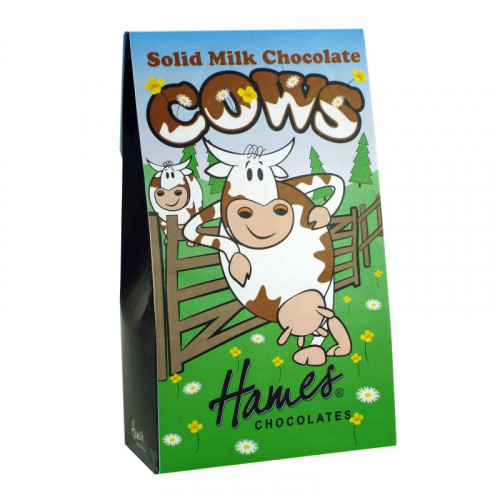 Hames - Solid Milk Chocolate Shaped Cows 100g  x Outer of 12