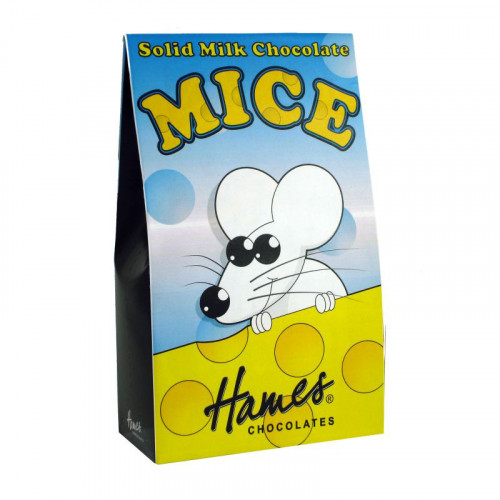 Hames - Solid Milk Chocolate Shaped Mice 100g  x Outer of 12