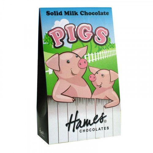 Hames - Solid Milk Chocolate Shaped Pigs 100g  x Outer of 12