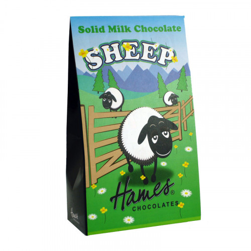 Hames - Solid Milk Chocolate Shaped Sheep 100g  x Outer of 12