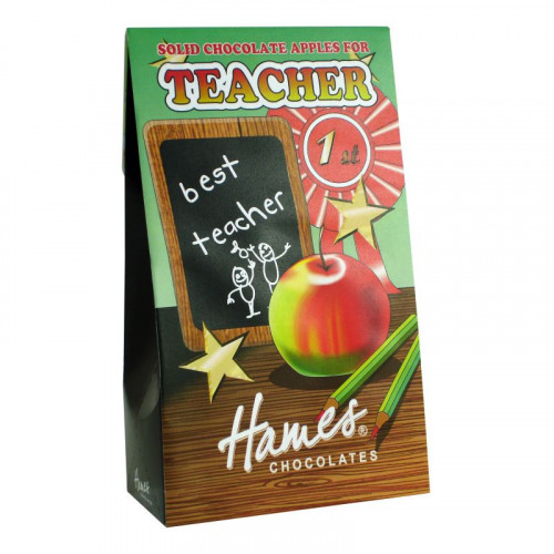 Hames - Solid Milk Chocolate Shaped Apples 100g x Outer of 12