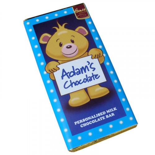 Sentiment - Personal 80g Milk Chocolate Name Bar - Adam x Outer of 6