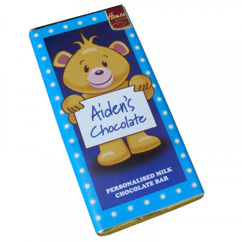Sentiment - Personal 80g Milk Chocolate Name Bar - Aiden  x Outer of 6