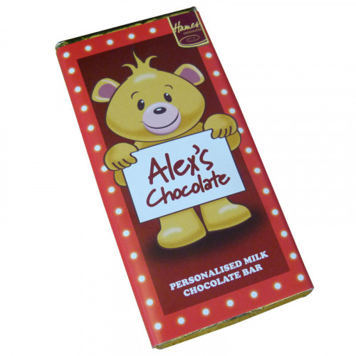 Sentiment - Personal 80g Milk Chocolate Name Bar - Alex  x Outer of 6