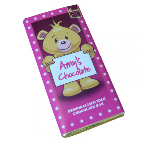 Sentiment - Personal 80g Milk Chocolate Name Bar - Amy  x Outer of 6