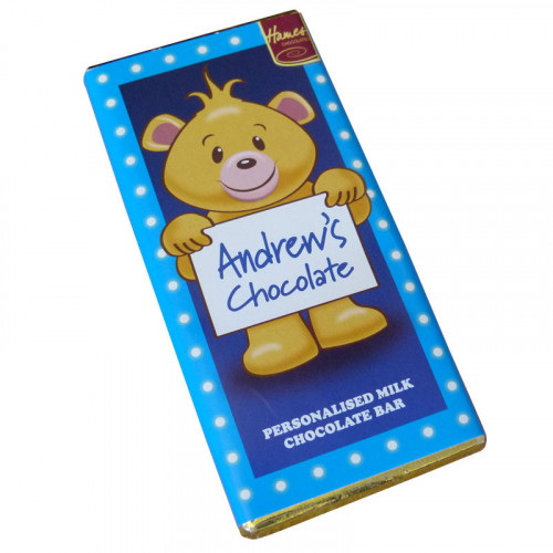 Sentiment - Personal 80g Milk Chocolate Name Bar - Andrew  x Outer of 6