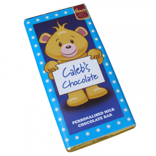 Sentiment - Personal 80g Milk Chocolate Name Bar - Caleb  x Outer of 6