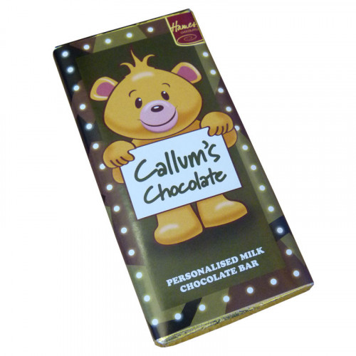 Sentiment - Personal 80g Milk Chocolate Name Bar - Callum  x Outer of 6