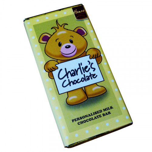 Sentiment - Personal 80g Milk Chocolate Name Bar - Charlie  x Outer of 6