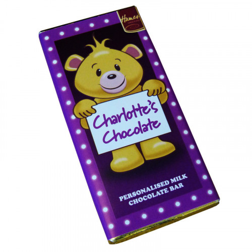 Sentiment - Personal 80g Milk Chocolate Name Bar - Charlotte x Outer of 6