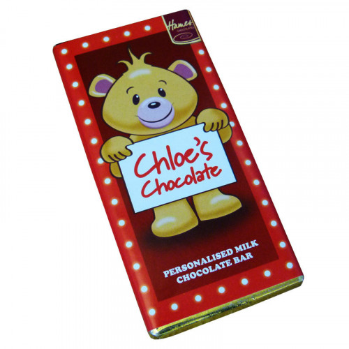 Sentiment - Personal 80g Milk Chocolate Name Bar - Chloe  x Outer of 6