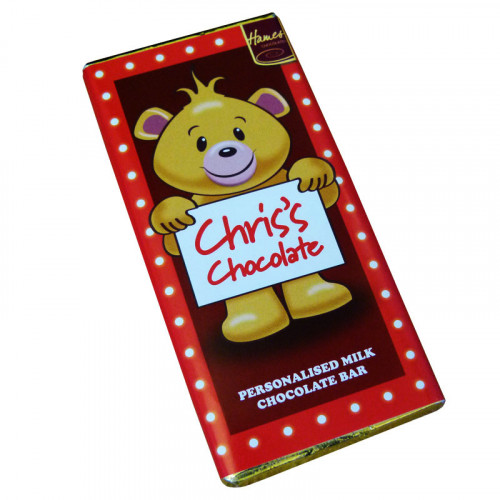 Sentiment - Personal 80g Milk Chocolate Name Bar - Chris  x Outer of 6