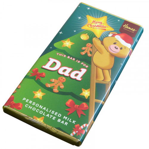 Sentiment - Xmas Personal 80g Milk Chocolate Bar - Dad x Outer of 6