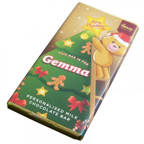 Sentiment - Xmas Personal 80g Milk Chocolate Name Bar - Gemma x Outer of 6