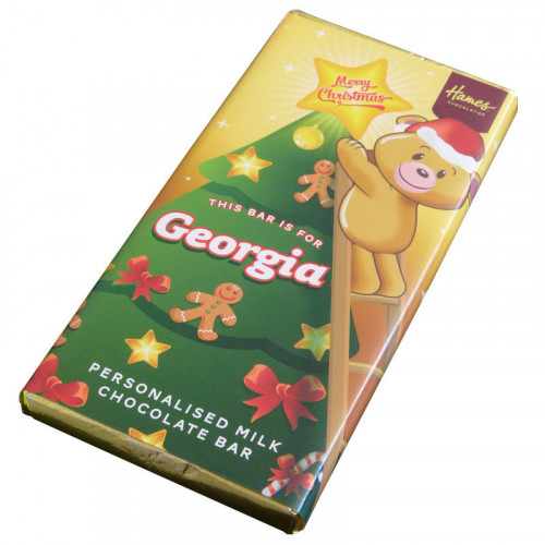 Sentiment - Xmas Personal 80g Milk Chocolate Name Bar - Georgia x Outer of 6