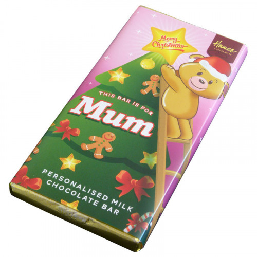 Sentiment - Xmas Personal 80g Milk Chocolate Bar - Mum x Outer of 6