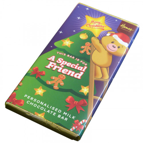 Sentiment - Xmas Personal 80g Milk Chocolate Bar - Special Friend x Outer of 6