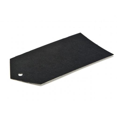Elegant Texture-Embossed Matt Finish Pre-Punched Swing Tag - Premium in Black 89 x 45mm