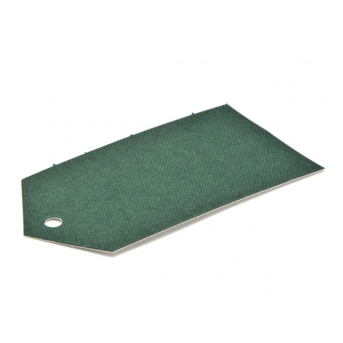 Elegant Texture-Embossed Matt Finish Pre-Punched Swing Tag - Premium in Green 89 x 45mm